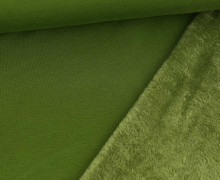 Alpenfleece - Kuschelstoff - Uni - Moosgrün