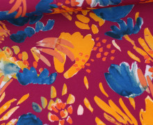 Softshell - Fleece - Abstraktes Muster - Fuchsia/Fuchsia