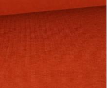 WOW Angebot - Glattes Bündchen - Uni - Schlauch - Rostorange