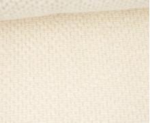 Weicher Waffel Frottee - Baumwolle - Uni - Warmweiß