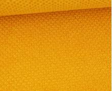 Weicher Waffel Frottee - Baumwolle - Uni - Senfgelb