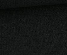 Weicher Waffel Frottee - Baumwolle - Uni - Schwarz