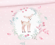 Sommersweat – Bio-Qualität – Paneel – Beautiful Autumn Kitz Marie – Rosa – Stickherz – abby and me