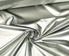 Leichter Regenjacken Stoff - Windbreaker - Uni - Wasserabweisend - Elastisch - Glänzend - Silbergrau