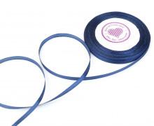 1 Rolle Satinband - Schleifenband - Zierband - 6mm - Uni - Dunkelblau