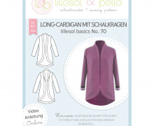 Schnittmuster - Long-Cardigan mit Schalkragen - No.70 - 80-164 -  lillesol&pelle