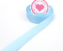 5m Ripsband - Schleifenband - Zierband - 15mm - Uni - Hellblau