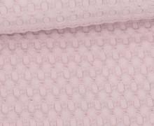 Waffel Piqué - Große Waffelstruktur - Baumwolle - Uni - Pastellviolett
