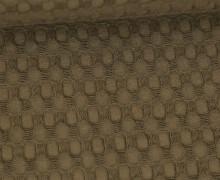 Waffel Piqué - Große Waffelstruktur - Baumwolle - Uni - Braun