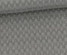 Waffel Piqué - Große Waffelstruktur - Baumwolle - Uni - Grau