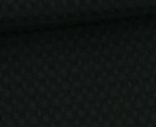 Waffel Piqué – Große Waffelstruktur – Baumwolle – Uni – Schwarz