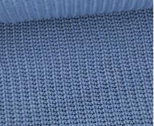 Weicher Seemanns Strick - Strickstoff - Baumwolle - Uni - Taubenblau Hell