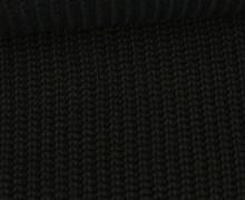 Weicher Seemanns Strick - Strickstoff - Baumwolle - Uni - Schwarz