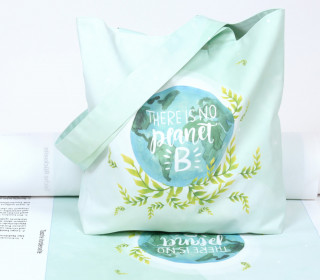 DIY-NÄHSET - Motivbeutel - Shopper - There Is No Planet B - abby and me