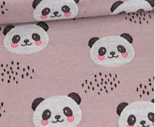 Jacquard Jersey -  Pandabär - Altflieder