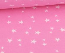 Bündchen - Jacquard - Weiße Sterne - Rosa