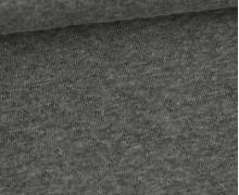 Baumwoll-Lochstrick - Raute - Dunkelgrau Meliert