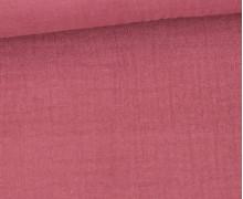 Bio Musselin Lotta - Muslin - Uni - Organic Cotton - Double Gauze - Altrose