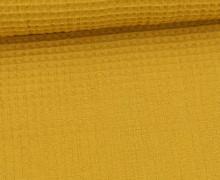 Waffel Piqué - Baumwolle - Senfgelb
