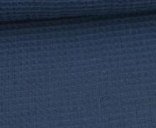 Waffel Piqué - Baumwolle - Taubenblau Dunkel