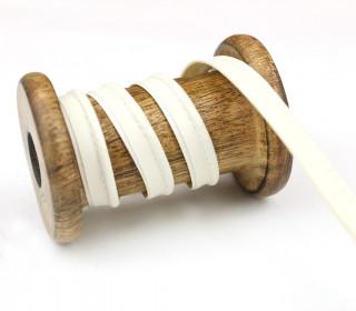 1 Meter Paspelband/Biesenband - Lederoptik - Weiß