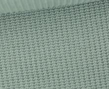 Weicher Seemanns Strick - Strickstoff - Baumwolle - Uni - Lichtgrün Dunkel