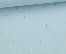 Musselin - Muslin - Double Gauze - Stripes - Gold - Pastellblau