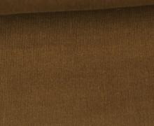 Babycord - Feincord - Uni - 140cm - Braun