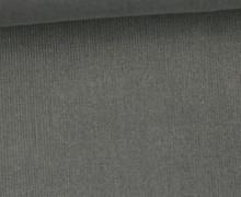 Babycord - Feincord - Uni - 140cm - Grau