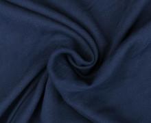 Viskose Blusenstoff - Elastisch - Uni - Nachtblau