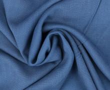 Viskose Blusenstoff - Elastisch - Uni - Jeansblau