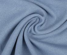Baumwollstrick - Feinstrick - Uni - Hellblau