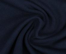 Baumwollstrick - Feinstrick - Uni - Dunkelblau