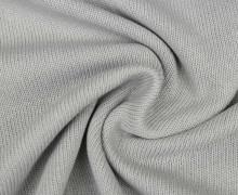 Baumwollstrick - Feinstrick - Uni - Lichtgrau