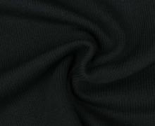 Baumwollstrick - Feinstrick - Uni - Schwarz