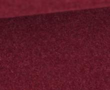 Bio-Baumwoll Fleece - Uni - Melange - Weinrot
