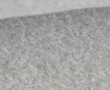 Bio-Baumwoll Fleece - Uni - Melange - Lichtgrau