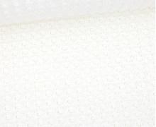Waffelstrick - Strickstoff - Uni - Warmweiß