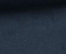 Stretchcord - Feincord - elastischer Babycord - Uni - Schwarzblau