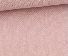 Weicher Waffel Frottee - Baumwolle - Uni - Pastellrosa