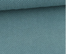 Weicher Waffel Frottee - Baumwolle - Uni - Pastelltürkis