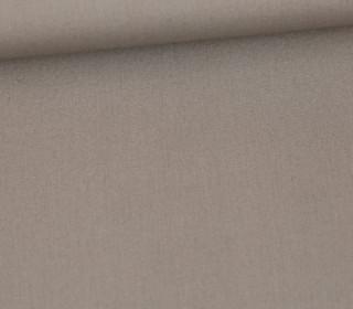 Baumwollstoff - Webware - Popelin - Uni - 150cm - Graubeige