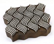 Stempel - Original Textilstempel - Indischer Holzstempel - Stoffdruck - Wellen - Ornamente - Groß