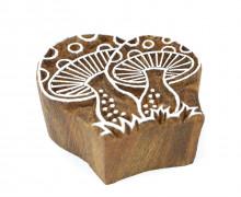 Stempel - Original Textilstempel - Indischer Holzstempel - Stoffdruck - Fliegenpilze - Mittel