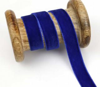 1 Meter Samtband - Zierband - Dekoband - 15 mm - Blau