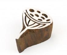 Stempel - Original Textilstempel - Indischer Holzstempel - Stoffdruck - Lotuskelch - Klein