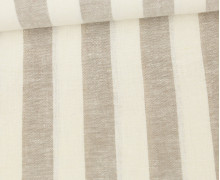 Baumwolle - Leinen - Streifen - 160g - Beige