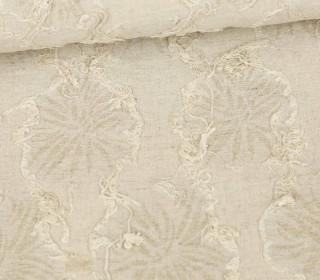 Feste Baumwolle - Fransenblüten- Beige