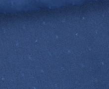 Viskose - Blusenstoff - Aufgestickte Kleine Noppen - Jeansblau