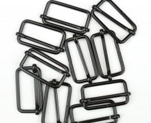 10 Schieber - Metall - 30mm Band - Schwarz